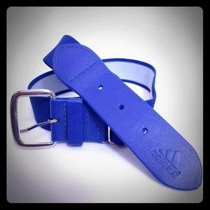 Adidas Stretch Belt Blue Silver Golf Elastic